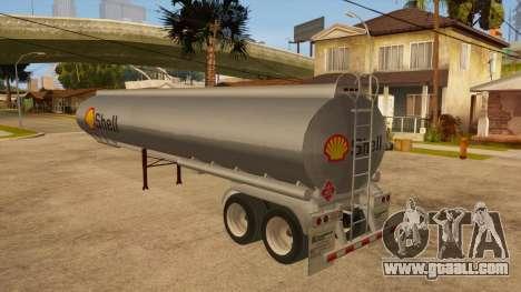 Semitrailer tank for GTA San Andreas back left view