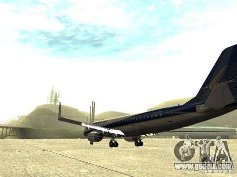 Embraer E-190 for GTA San Andreas back left view