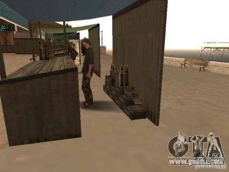 Market on the beach for GTA San Andreas