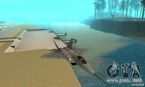 YF-22 Grey for GTA San Andreas back view
