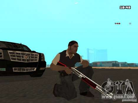 White Red Gun for GTA San Andreas third screenshot