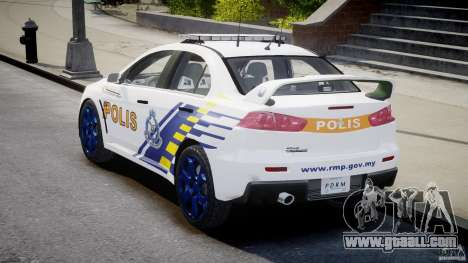 Mitsubishi Evolution X Police Car [ELS] for GTA 4 side view
