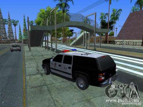 Chevrolet Suburban Los Angeles Police for GTA San Andreas left view