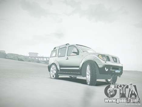 Nissan Pathfinder 2010 for GTA 4 upper view
