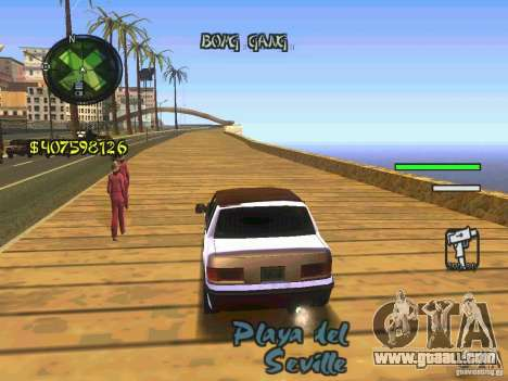HUD Convenient and easy BETA for GTA San Andreas third screenshot