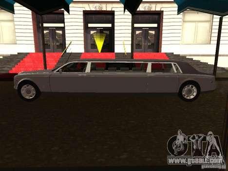 Rolls-Royce Phantom Limousine 2003 for GTA San Andreas left view