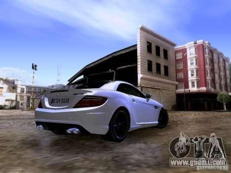 Mercedes-Benz SLK55 AMG 2012 for GTA San Andreas right view