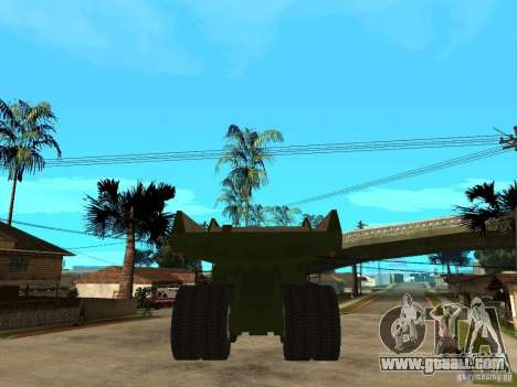 Belaz for GTA San Andreas back left view