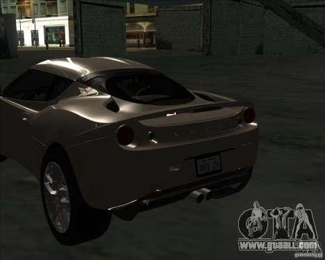 Lotus Evora for GTA San Andreas back left view