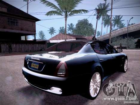 Maserati Quattroporte 2010 for GTA San Andreas back view