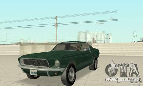 Ford Mustang Bullitt 1968 v.2 for GTA San Andreas