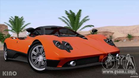 Pagani Zonda F for GTA San Andreas right view