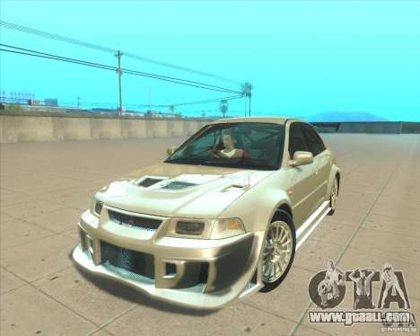 Mitsubishi Lancer Evolution VI 1999 Tunable for GTA San Andreas inner view