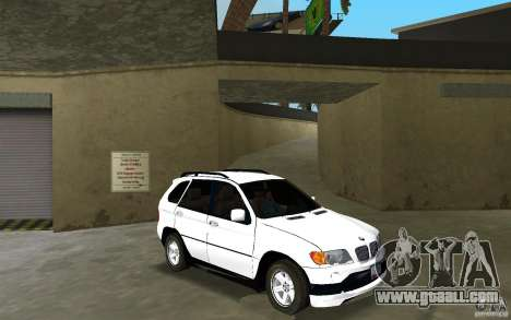 BMW X5 for GTA Vice City back view