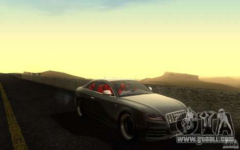 Audi S5 Black Edition for GTA San Andreas side view