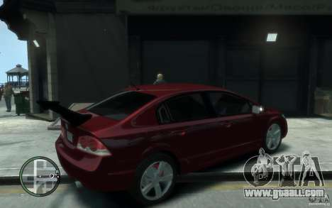 Honda Civic 2006 for GTA 4 right view