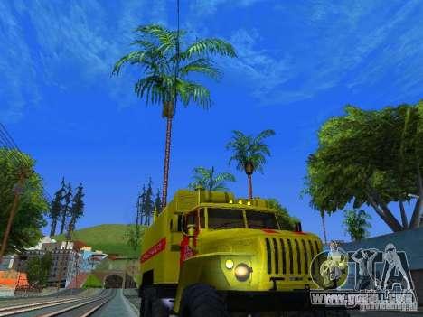 Ural 4320 GORSVET for GTA San Andreas back view