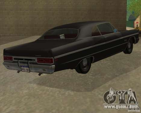 Plymouth Fury III coupe 1969 for GTA San Andreas left view