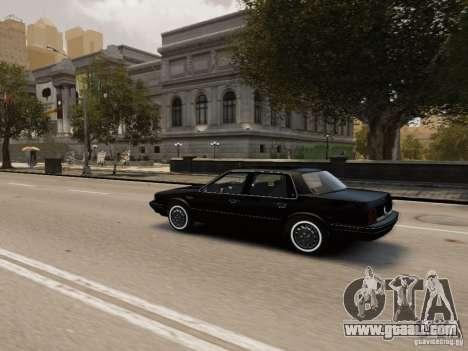 Oldsmobile Cutlass Ciera 1993 for GTA 4 upper view