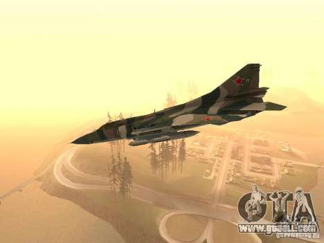 Mikoyan-Gurevich Mig-23 for GTA San Andreas back left view