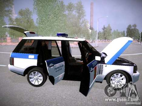 Range Rover Supercharged 2008 Police DEPARTMENT for GTA San Andreas bottom view