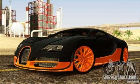 Bugatti Veyron SuperSport for GTA San Andreas