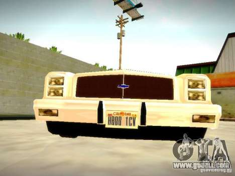 Chevrolet El Camino 1976 for GTA San Andreas back view