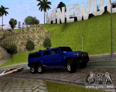 Hummer H6 for GTA San Andreas back view