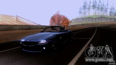 BMW Z4 V10 for GTA San Andreas upper view