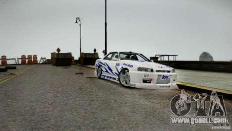 Nissan Skyline R-34 v1.0 for GTA 4 back view