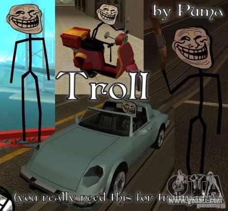 TrollFace skin for GTA San Andreas