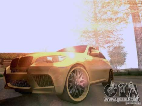 BMW X6M Hamann for GTA San Andreas engine