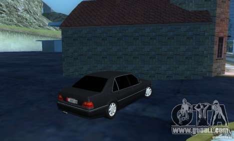 Mercedes-Benz W140 S600 Long Deputat Style for GTA San Andreas right view