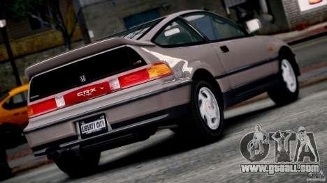 Honda CR-X SiR 1991 for GTA 4 left view