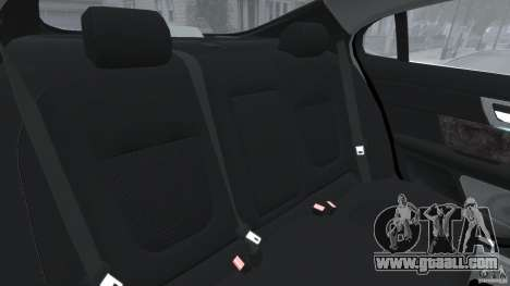 Jaguar XFR 2010 v2.0 for GTA 4 side view