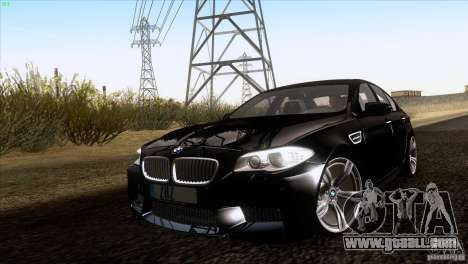 BMW M5 2012 for GTA San Andreas