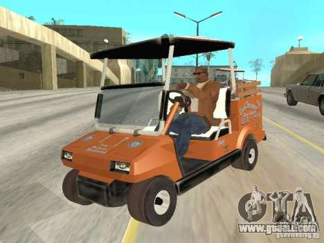 Golfcart caddy for GTA San Andreas