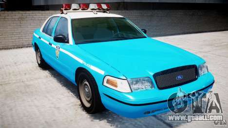Ford Crown Victoria Classic Blue NYPD Scheme for GTA 4 left view
