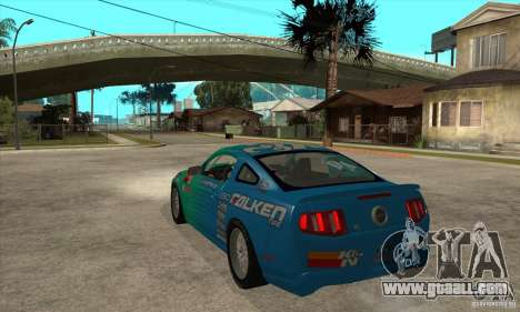 Ford Mustang GT Falken for GTA San Andreas back left view