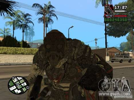 Lokast Grunt from Gears of War 2 for GTA San Andreas second screenshot