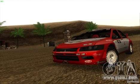 Mitsubishi Lancer Evolution VII for GTA San Andreas