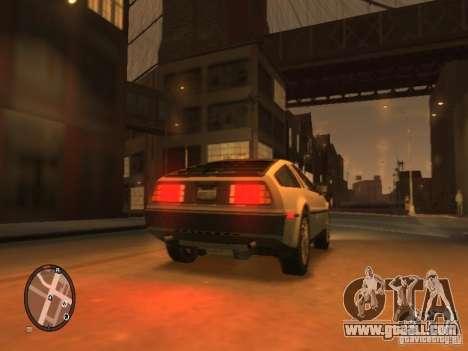 De Lorean DMC 12 for GTA 4 right view