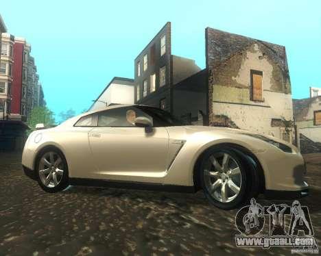 Nissan GTR R35 Spec-V 2010 Stock Wheels for GTA San Andreas back view