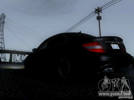 Mercedes-Benz C63 AMG 2010 for GTA San Andreas inner view