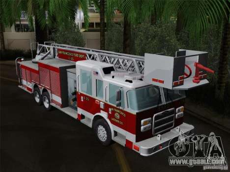 Pierce Aerials Platform. SFFD Ladder 15 for GTA San Andreas side view