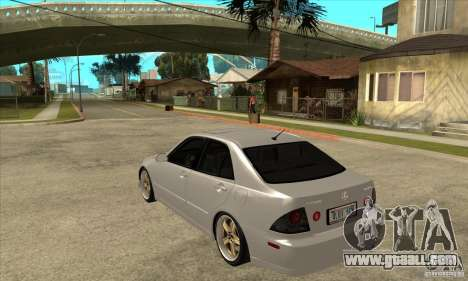 Lexus IS300 Tunable for GTA San Andreas back left view