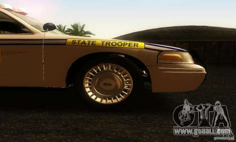 Ford Crown Victoria South Carolina Police for GTA San Andreas right view