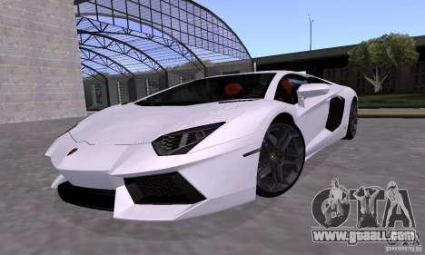 Lamborghini Aventador LP700-4 Final for GTA San Andreas inner view