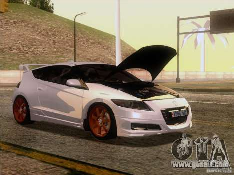Honda CR-Z Mugen 2011 V2.0 for GTA San Andreas back left view
