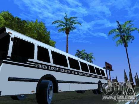 Prison Bus for GTA San Andreas side view